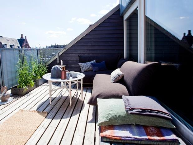 Parveke/ Boheme Interior sisustussuunnittelu Helsinki