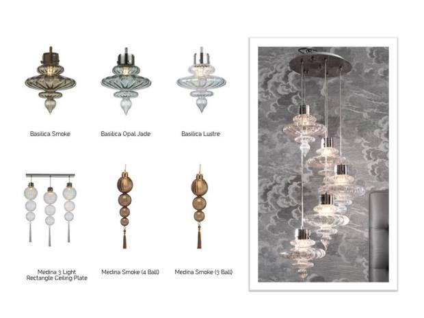 Beautiful lamps Heathfield&co, lasinen kattovalaisin/ Boheme Interior sisustus verkkokauppa + sisustussuunnittelu Helsinki