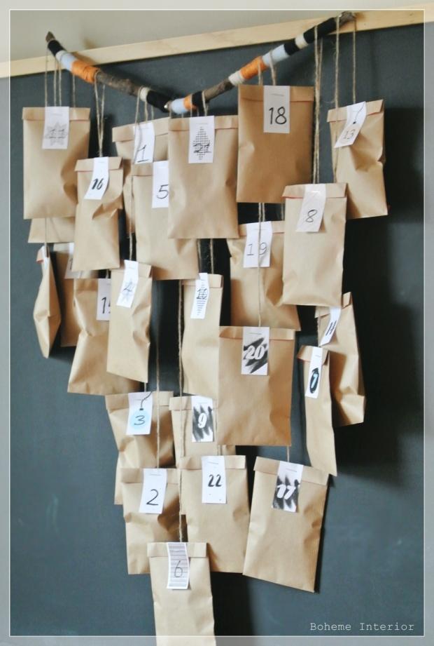 DIY joulukalenteri, diy advent calendar,