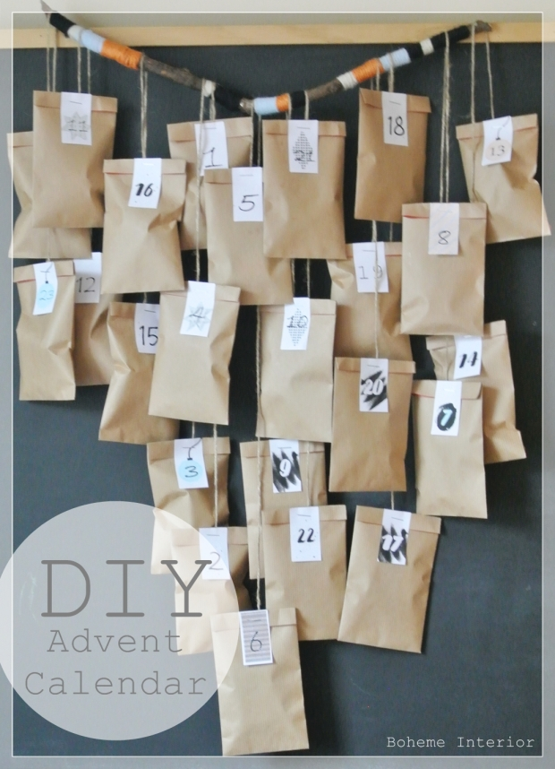 DIY joulukalenteri, diy advent calendar,