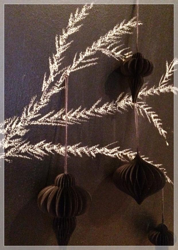 liitutaulu, joulu, mustavalkoinen, chalkboard, christmas