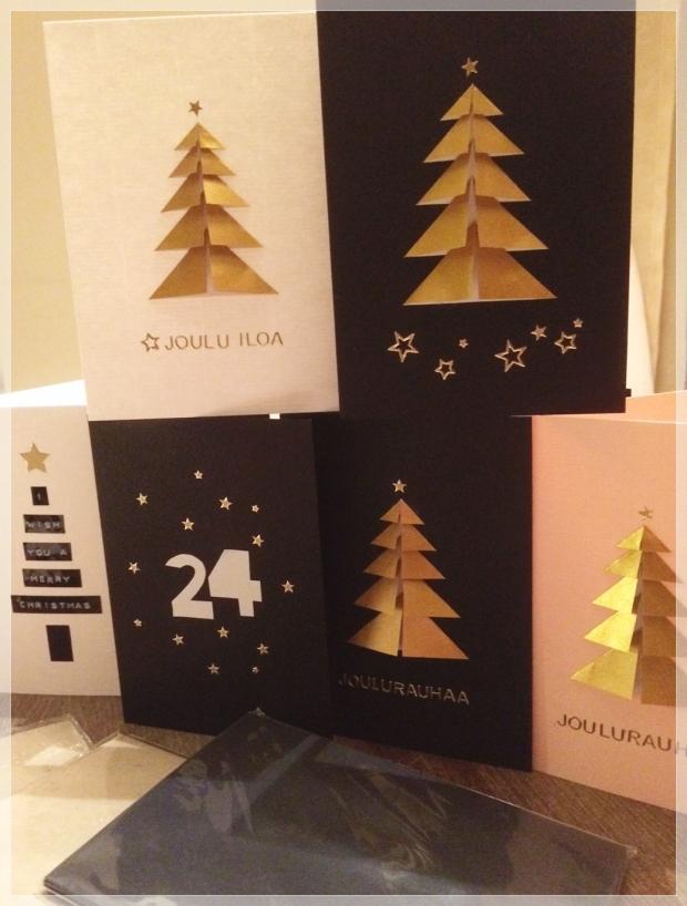 diy christmas card, joulukortti, askartelu