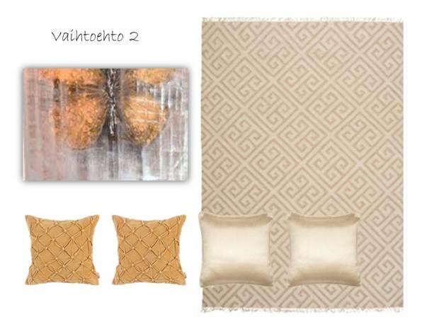 e-decor, sisustussuunnittelu netissä, tekstiilisuunnitelma, vaalea olohuone
