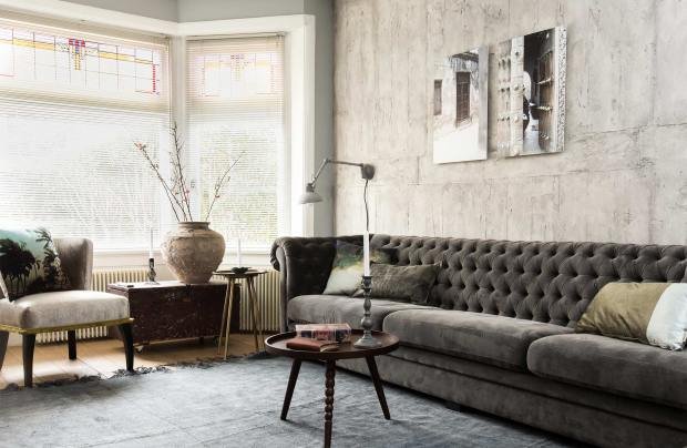 industrial, eclectic home