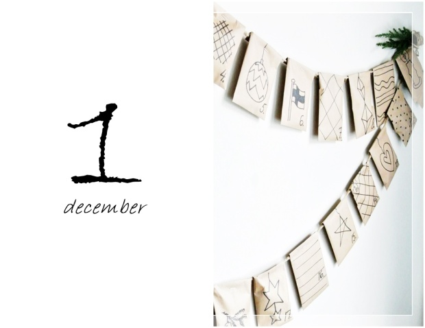 Joulukalenteri, diy advent calendar, christmas