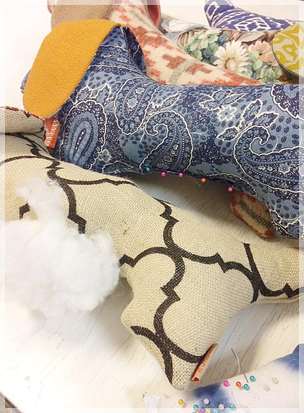 Mäyräkoira- tyyny, sisustus, käsintehty, kotimainen