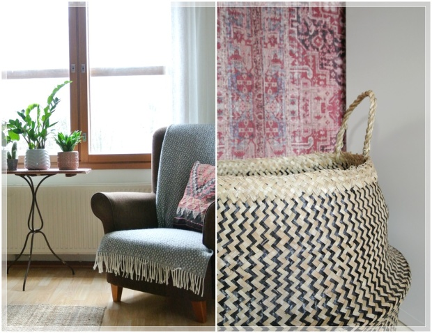 olohuone, livingroom, sisustus, homedecor, tapetti, wallpaper, kelim